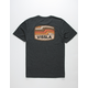 VISSLA Wave Badge Heather Black Mens T-Shirt