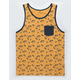 SHOUTHOUSE Chillax Gold Mens Tank Top
