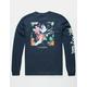 LA FAMILIA Watercolor Crane Mens T-Shirt