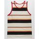 BIRCH BLACK Sunset Stripe Mens Tank Top