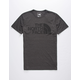 THE NORTH FACE Half Dome Tri-Blend Heather Black Mens T-Shirt