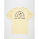 VISSLA Good Vibes Light Yellow Mens Pocket Tee