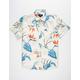 BRIXTON Charter Print White Mens Shirt