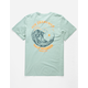RIP CURL Sun Drenched Slate Blue Mens Pocket Tee