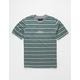 BRIXTON Revert Gray Stripe Mens T-Shirt