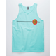 SANTA CRUZ Classic Dot Mint Mens Tank Top