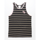 BIRCH BLACK Flamingo Stripe Mens Tank Top