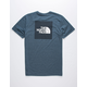 THE NORTH FACE Boxed Out Tri-Blend Navy Mens T-Shirt