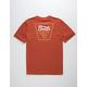 BRIXTON Portero Red Mens T-Shirt