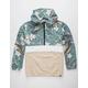 ASPHALT Floral Color Block Mens Anorak Jacket