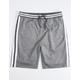 BROOKLYN CLOTH Varsity Stripe Ribbed Mens Sweat Shorts