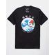 RIOT SOCIETY Wave Rider Black Mens T-Shirt