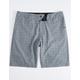 NITROUS BLACK Maxwell Plaid Mens Hybrid Shorts