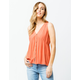 PATRONS OF PEACE Button Front Womens Top