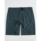 NITROUS BLACK Format Teal Blue Mens Hybrid Shorts
