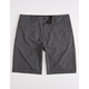 NITROUS BLACK Ortiz Sharp Mens Hybrid Shorts