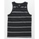 HURLEY Dri-FIT Harvey Stripe Black Mens Pocket Tank Top
