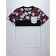 RSQ Triblock Floral Mens Pocket Tee