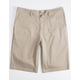VALOR Long Khaki Mens Chino Shorts