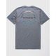 RIP CURL Conner Haze Heather Gray Mens T-Shirt