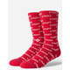 STANCE Repeat Red Mens Crew Socks
