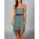 FULL TILT Ethnic Print Hi Low Tube Dress
