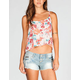 FULL TILT Floral Womens Hi Low Cami