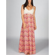 FIRE Crochet Printed Maxi Dress