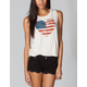 FULL TILT Heart Flag Womens Muscle Tee