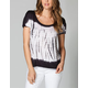 FULL TILT Tie Dye Womens Scoop Back Top