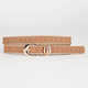 Scalloped Skinny Faux Leather Belt