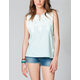FULL TILT Lace Back Womens Muscle Tee