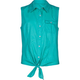 FULL TILT Tie Front Firls Voile Shirt