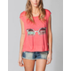 LIRA Shades Womens Open Back Tee