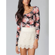 FULL TILT Floral Womens Crop Top