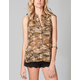ALI & KRIS Camo Stud Womens Top