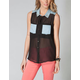 ALI & KRIS Studded Chambray Collar Womens Top
