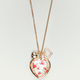 FULL TILT Floral Heart Necklace