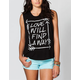 FULL TILT Love Will Find A Way Womens Flyway Muscle Tee