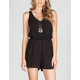FULL TILT Solid Tie Back Romper