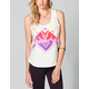 WORKSHOP Ethnic Print Womens Muscle Tee