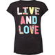 FULL TILT Live And Love Girls Tee