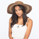 Striped Womens Floppy Hat