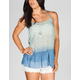 FULL TILT Dip Dye Floral Womens Peplum Top