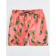 LIRA Pineapple Coral Boys Volley Shorts