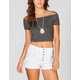 FULL TILT Off Shoulder Womens Tee