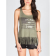 FULL TILT  Live Wild And Free Fringe Womens Tank