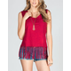 FULL TILT Fringe Pocket Womens Top