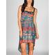 LOTTIE & HOLLY Ethnic Print Hi Low Corset Dress