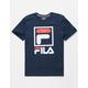 FILA Stacked Logo Navy Boys T-Shirt